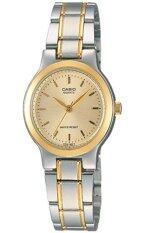 ราคา Casio นาฬิกาข้อมือผู้หญิง สายสเตนเลส รุ่น Ltp 1131G 9Ardf Silver Gold ใหม่ล่าสุด