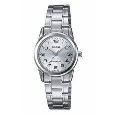 ราคา Casio นาฬิกาข้อมือผู้หญิง สายสเตนเลส รุ่น Ltp V001D 7B Silver Silver ออนไลน์