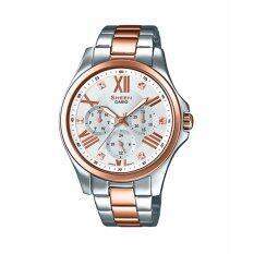 ราคา Casio Sheen Chronograph นาฬิกาข้อมือผู้หญิง สองกษัตริย์ สายสแตนเลส รุ่น She 3806Spg 7A ออนไลน์ สงขลา