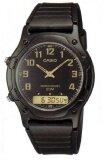Casio Standard Analog Digital นาฬิกาผู้ชาย สายเรซิ่น รุ่น Aw 49H 1B Black ถูก