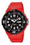 ราคา ราคาถูกที่สุด Casio Standard Analog นาฬิกาข้อมือสไตล์สปอร์ต Mrw 200Hc 4Bvdf สีแดง ดำ
