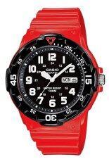 ขาย Casio Standard Analog นาฬิกาข้อมือสไตล์สปอร์ต Mrw 200Hc 4Bvdf สีแดง ดำ Casio