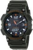 ขาย Casio Standard นาฬิกาข้อมือผู้ชาย สีเขียวทหาร สายเรซิ่น รุ่น Aq S810W 3Avdf ไทย