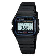 ขาย Casio Standard นาฬิกาข้อมือ รุ่น F 91 Black ผู้ค้าส่ง