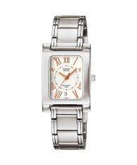 ขาย Casio Standard นาฬิกาข้อมือผู้หญิง สายสแตนเลส รุ่น Bel 100D 7A3V สีเงิน ขาว Casio Standard เป็นต้นฉบับ