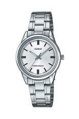 ซื้อ Casio Standard นาฬิกาข้อมือสตรี Silver White สายสแตนเลส รุ่น Ltp V005D 7Audf ถูก ใน Thailand
