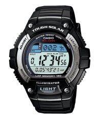 ราคา Casio Standard นาฬิกาข้อมือ รุ่น Solar Power W S220 1A Black ถูก