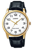ราคา Casio Standard นาฬิกาข้อมือผู้ชาย White Black สายหนัง รุ่น Mtp V001Gl 7Budf ที่สุด