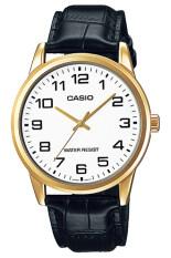 โปรโมชั่น Casio Standard นาฬิกาข้อมือผู้ชาย White Black สายหนัง รุ่น Mtp V001Gl 7Budf