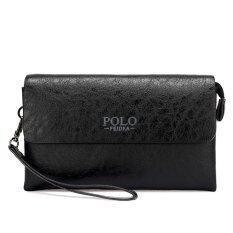 Casual Clutch Men Purse Long Male Fashion Leisure Men S Wallet Hand Bag Black เป็นต้นฉบับ