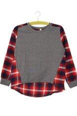 ขาย Casual Lady G*rl Crewneck Plaid Shirt ใหม่