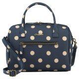 ราคา Cath Kidston Mini Embossed Bowler Bag Crossbody Handbag 16Aw Polka Button Spot Pattern Navy Colour 556538 Intl Cath Kidston เป็นต้นฉบับ
