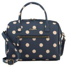 ขาย Cath Kidston Mini Embossed Bowler Bag Crossbody Handbag 16Aw Polka Button Spot Pattern Navy Colour 556538 Intl ออนไลน์ Thailand