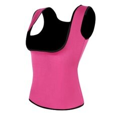 Cenita - ผู้หญิงกีฬายิมคอร์เซ็ตรัดเอวลดสัดส่วน Cincher ซาวน่าเสื้อกั๊กกระชับรูปร่าง M สีดำ - Intl.