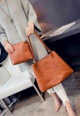 ราคา Chanee กระเป๋าถือ กระเป๋าสะพายข้างจากเกาหลี พร้อมกระเป๋าใส่ของใบเล็ก สีน้ำตาล เป็นต้นฉบับ Unbranded Generic