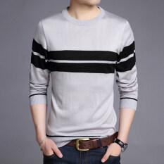 ซื้อ เสื้อยืดวรรคฤดูใบไม้ร่วงใหม่ของผู้ชายคอวี 1205 สีเทา ออนไลน์ ฮ่องกง