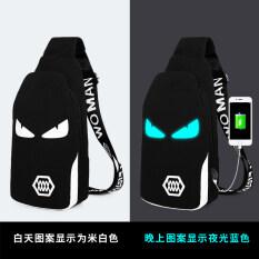 กระเป๋าสะพายผู้ชายRobeza กระเป๋าผ้าใบ สไตล์เกาหลี ชาร์จรุ่นมอนสเตอร์สีดำ ชาร์จรุ่นมอนสเตอร์สีดำ ใหม่ล่าสุด