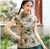 ราคา เสื้อผู้หญิงจีน ผ้าฝ้าย ความยาวขนาดกลาง ดัดแปลงจากชุดจีนฮั่น 1085 แขนสั้นสีเขียวทรายดอกไม้ 1085 แขนสั้นสีเขียวทรายดอกไม้ ที่สุด