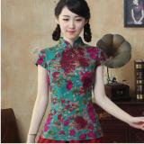 ซื้อ เสื้อผู้หญิงจีน ผ้าฝ้าย ความยาวขนาดกลาง ดัดแปลงจากชุดจีนฮั่น 1085 แขนสั้นธูป 1085 แขนสั้นธูป ถูก ฮ่องกง