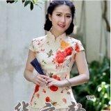 ทบทวน ที่สุด เสื้อผู้หญิงจีน ผ้าฝ้าย ความยาวขนาดกลาง ดัดแปลงจากชุดจีนฮั่น 1085 แขนสั้น Evening Primrose Hong 1085 แขนสั้น Evening Primrose Hong