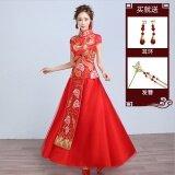 ขาย จีน Xiu Wo ใหม่เจ้าสาวมังกรและอินทผลัมชุดขนมปังปิ้งชุดแต่งงาน 788 รุ่นแขนกุด ผู้ค้าส่ง