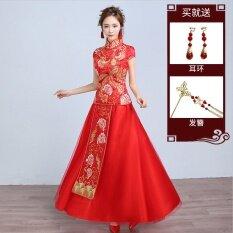 ขาย จีน Xiu Wo ใหม่เจ้าสาวมังกรและอินทผลัมชุดขนมปังปิ้งชุดแต่งงาน 788 รุ่นแขนกุด Unbranded Generic เป็นต้นฉบับ