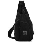 ขาย Chest Bag Handbag Nylon Diagonal Package Shoulder Black ราคาถูกที่สุด