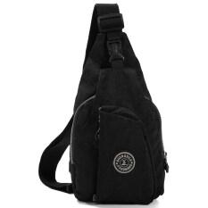 ขาย ซื้อ Chest Bag Handbag Nylon Diagonal Package Shoulder Black Thailand