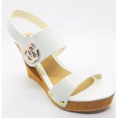 ราคา Chewisshoes รองเท้าส้นตึก ส้นสูง รัดส้น รุ่น Cn002 สีขาว ใหม่