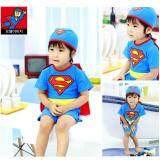 ราคา Children Superman Ride With Cloak Swimsuit Intl เป็นต้นฉบับ