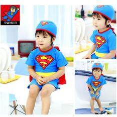 ทบทวน Children Superman Ride With Cloak Swimsuit Intl
