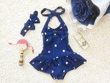 ขาย Children Swimsuit Cute G*rl Baby One Piece Skirt Swimsuit Dance Clothes Blue Intl เป็นต้นฉบับ
