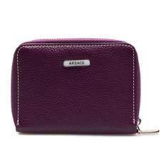 ราคา Chinatown Leather กระเป๋าสตางค์หนังแท้ รุ่น ซิปรอบ สีม่วง ใหม่