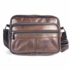 ราคา Chinatown Leatherกระเป๋าสะพายหนังแท้ซิปยื่นนอนใบกระทัดรัด Chinatown Leather ใหม่
