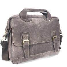 ราคา Chinatown Leather กระเป๋าหนังแท้ใส่เอกสาร A4 สีน้ำตาล กรุงเทพมหานคร