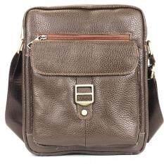 ราคา Chinatown Leatherกระเป๋าสะพายหนังแท้ห่วง ขนาด Ipad น้ำตาล ใหม่ ถูก