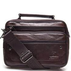ราคา Chinatown Leather กระเป๋าสะพายหนังแท้หูจับสายสะพายถอดได้ทรงนอน ขนาด Ipad Mini รุ่น ซิปยื่นนอน สีน้ำตาล Chinatown Leather เป็นต้นฉบับ