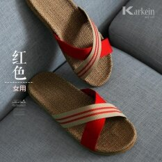 โปรโมชั่น แบรนด์ Chitoso ฤดูร้อนผ้าลินินชายและหญิง Indoor Anti Slip Comfort Floor รองเท้าแตะ Ktz01 Unbranded Generic
