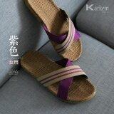 ราคา Chitoso Brand Summer Home Linen Men And Women Indoor Anti Slip Comfort Floor Slippers Ktz01 Intl เป็นต้นฉบับ