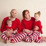 ราคา ชุดนอนสำหรับครอบครัว Pjs ชุดนอนชุดนอนผู้ใหญ่แม่ พ่อ เด็กใหม่สีแดง นานาชาติ ที่สุด