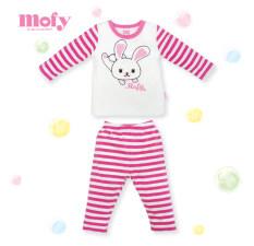 ส่วนลด ชุดนอนเด็กหญิง Mofy โมฟี่ ชุดนอนเด็กผู้หญิง ผ้าลายริ้วชมพู ขาว 1 3 ขวบ กรุงเทพมหานคร