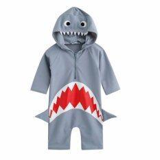 ขาย ชุดว่ายน้ำบอดี้สูทเด็ก ปลาฉลาม มีฮู้ด ไซส์ 3 9 ปี 7018 ออนไลน์