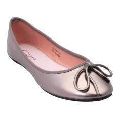 ราคา Cinzia รองเท้าส้นเตี้ย รุ่น7301 สีเทา ใหม่