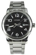 ซื้อ Citizen นาฬิกาข้อมือผู้ชาย สายสเตนเลส รุ่น Bi1020 57E Silver Black ใหม่ล่าสุด