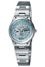 ซื้อ Citizen Eco Drive Sapphire Ladies Watch Stainless Strap รุ่น Ew3081 59D Mother Of Pearl Light Blue ใหม่ล่าสุด