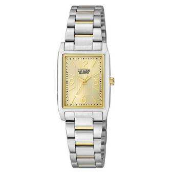 CITIZEN Quartz Ladies Watch Stainless Strap รุ่น EJ6034-54P - สองกษัตริย์ Silver/Gold-Gold