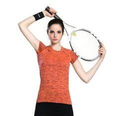 ขาย ซื้อ Ck Sports T Shirt เสื้อยืดออกกำลังกาย สำหรับผู้หญิง เล่นฟิตเนส โยคะ ออกกำลังกายกลางแจ้ง สีส้ม ใน กรุงเทพมหานคร
