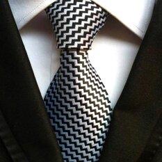 ซื้อ Classic Men S Formal Strip Commercial Tie Polyester Silk Neckties For Casual Business Party Wedding Vintage Ties Black Intl Unbranded Generic ออนไลน์