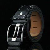 ซื้อ Classic Retro Style Men Belts Strap Fashion Pu Leather Alloy Pin Buckle Belts Creative Men Women Belts Black Intl ใน จีน