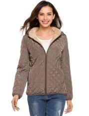ราคา ราคาโปรโมชั่น Sunweb ผู้หญิงเสื้อกันหนาวฤดูหนาวลงเสื้อแจ็คเก็ตสั้นบางกับซับขนแกะ กาแฟ ใหม่ล่าสุด